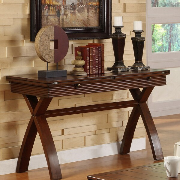 Shop Furniture of America Naleigh Expandable Sofa Table ...
