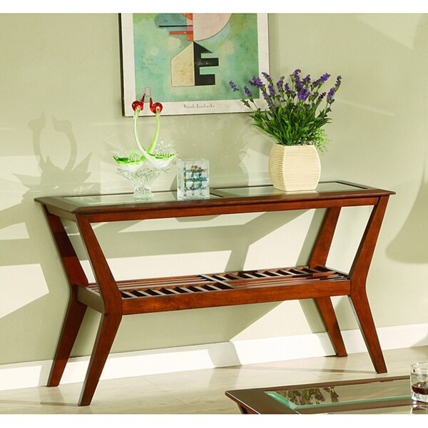 Shop Furniture Of America Artesia Glass-top Sofa Table