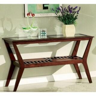 Furniture of America Artesia Glass-top Sofa Table
