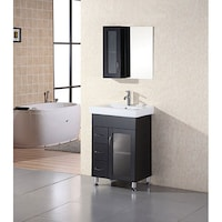 Design Element Oslo 24 Inch Modern Bathroom Vanity Set