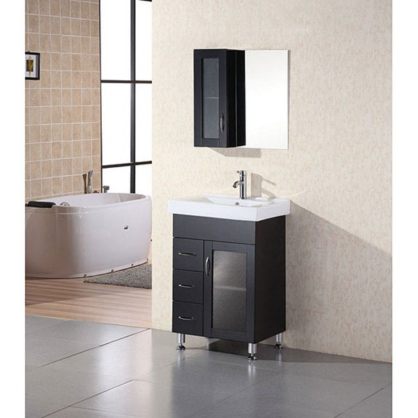 Bathroom Vanities Set design element oslo 24-inch modern bathroom vanity set - free