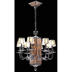 Loire Valley 8-light Iron Aged Oak Chandelier