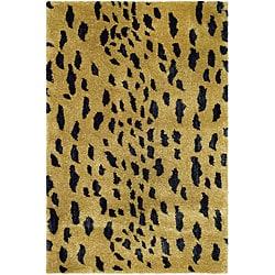 Safavieh Handmade Soho Leopard Skin Beige New Zealand Wool Rug (2' x 3')