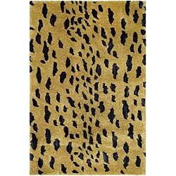 Safavieh Handmade Soho Leopard Skin Beige New Zealand Wool Rug   2u0027 ...