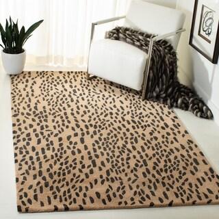 Safavieh Handmade Soho Leopard Skin Beige New Zealand Wool Rug - 2' X 3'