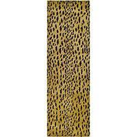 Safavieh Handmade Soho Leopard Skin Beige N. Z. Wool Runner - 2'6 x 12'