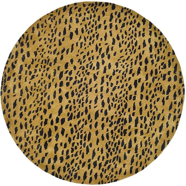 Safavieh Handmade Soho Leopard Skin Beige New Zealand Wool