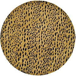 Shop Safavieh Handmade Soho Leopard Skin Beige Wool Rug