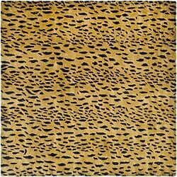 Safavieh Handmade Soho Leopard Skin Beige New Zealand Wool Rug (6' Square)