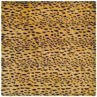 Safavieh Handmade Soho Leopard Skin Beige New Zealand Wool Rug - 6' X 6' Square