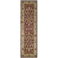 Safavieh Handmade Heritage Timeless Traditional Red/ Gold Wool Runner Rug - 2'3 x 10'
