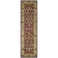 Safavieh Handmade Heritage Timeless Traditional Red/ Gold Wool Runner (2'3 x 12')