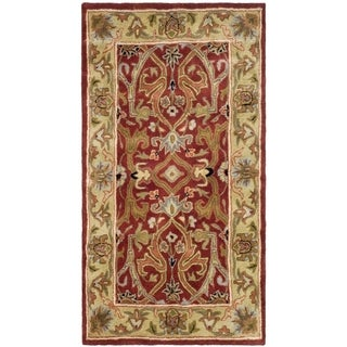 Safavieh Handmade Heritage Timeless Traditional Red/ Gold Wool Rug (3' x 5')