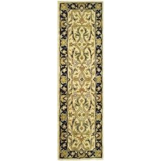 Safavieh Handmade Heritage Timeless Traditional Ivory/ Black Wool Runner (2'3 x 8')