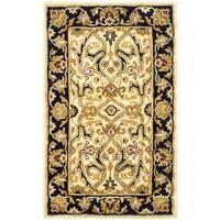 Safavieh Handmade Heritage Timeless Traditional Ivory/ Black Wool Rug (3' x 5')