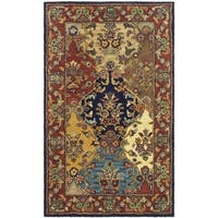 Safavieh Handmade Heritage Timeless Traditional Multicolor/ Burgundy Wool Rug - 2' x 3'