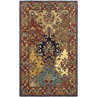 Safavieh Handmade Heritage Timeless Traditional Multicolor/ Burgundy Wool Rug (2' x 3')