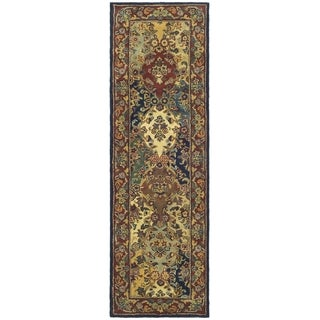 Safavieh Handmade Heritage Timeless Traditional Multicolor/ Burgundy Wool Runner (2'3 x 10')