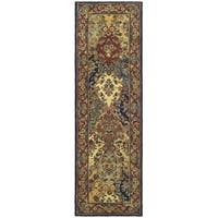 Safavieh Handmade Heritage Timeless Traditional Multicolor/ Burgundy Wool Runner Rug - 2'3 x 10'