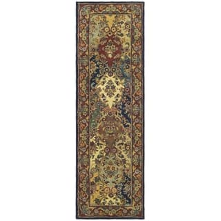 Safavieh Handmade Heritage Timeless Traditional Multicolor Burgundy Wool Runner 2 3 X 14