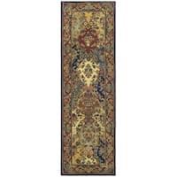 Safavieh Handmade Heritage Timeless Traditional Multicolor/ Burgundy Wool Runner Rug - 2'3 x 8'