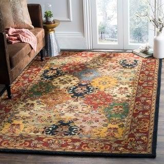 Safavieh Handmade Heritage Timeless Traditional Multicolor/ Burgundy Wool Rug (4' x 6')