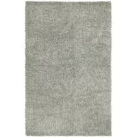 Hand-woven Chenille Shag Rug (2'6 x 4'2) - 2'6 x 4'2