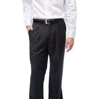 Men's Black Single-pleat Dress Pants https://ak1.ostkcdn.com/images/products/4661084/P12584121.jpg?impolicy=medium