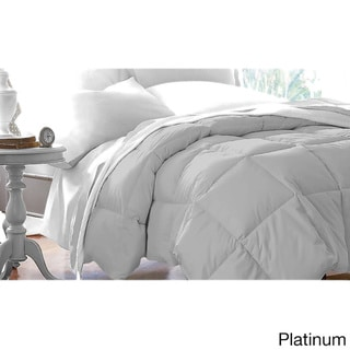 Double-stitched Microfiber Hypoallergenic Down Alternative Comforter (Platinum - Twin)