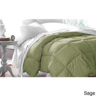 Double-stitched Microfiber Hypoallergenic Down Alternative Comforter (Sage - Queen)