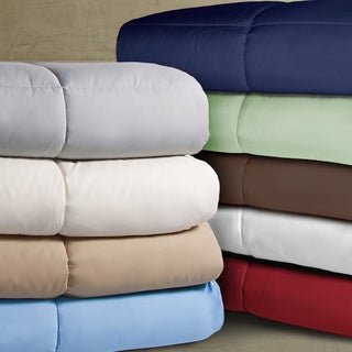 Double-stitched Microfiber Hypoallergenic Down Alternative Comforter (More options available)