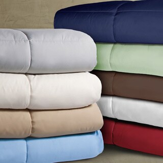 Double-stitched Microfiber Hypoallergenic Down Alternative Comforter (3 options available)