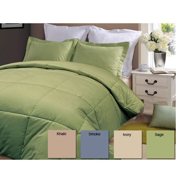 Egyptian Cotton 320 Thread Count Down Alternative Comforter