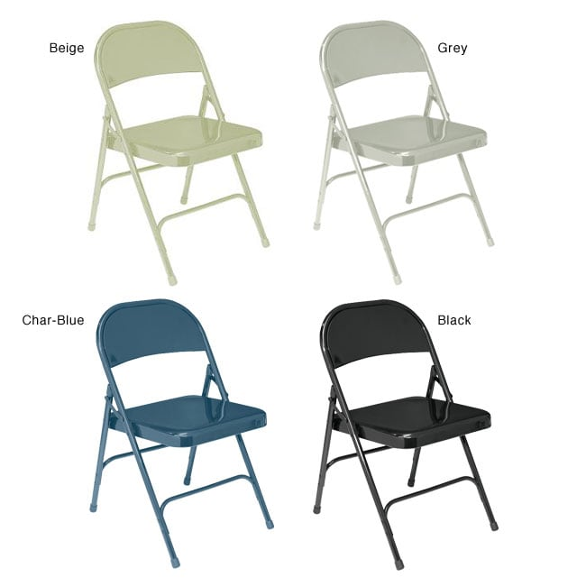 NPS Standard Steel Folding Chairs (Pack of 4)