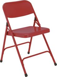 NPS Premium Steel Red Folding Chairs (Pack of 4) - Thumbnail 2