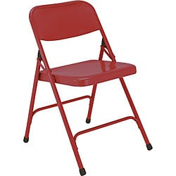 NPS Premium Steel Red Folding Chairs (Pack of 4)