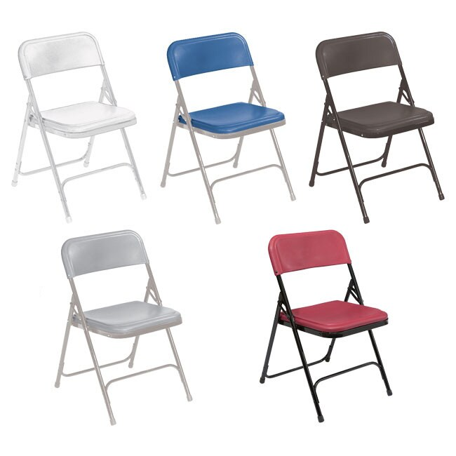 National Public Seating 800 Series Lightweight Folding Chair Set Of