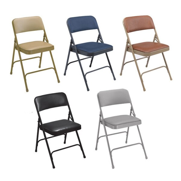 NPS Vinyl Upholstered Premium Folding Chairs (Pack of 4)