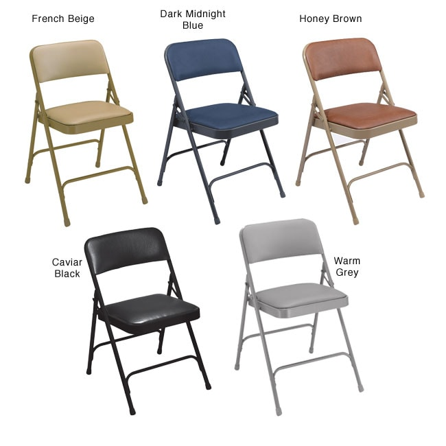 NPS Vinyl Upholstered Premium Folding Chairs Pack of 4 Free Shipping Toda