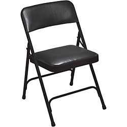 NPS Vinyl Upholstered Premium Folding Chairs (Pack of 4) - Thumbnail 1