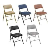 NPS Vinyl Upholstered Steel Premium Folding Chairs (Pack of 4)