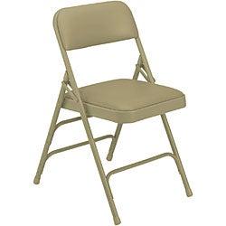 NPS Upholstered Vinyl Premium Folding Chair (Pack of 4) - Thumbnail 1