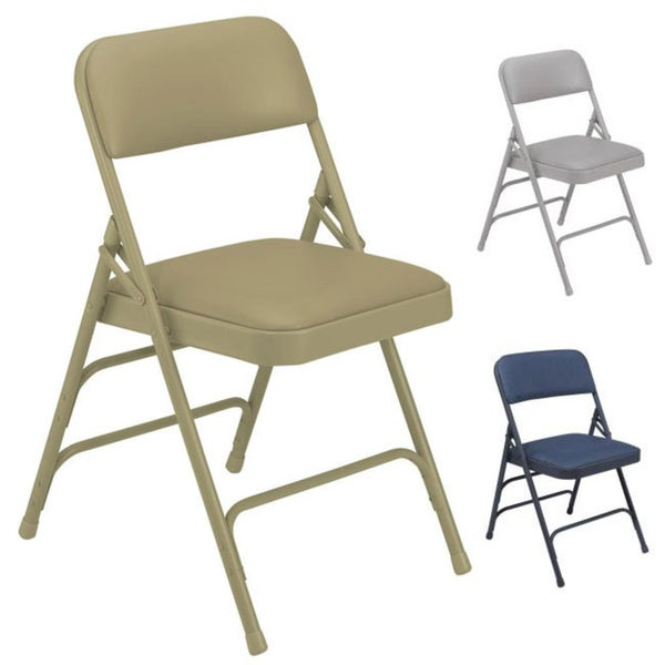 NPS Upholstered Vinyl Premium Folding Chair (Pack of 4)