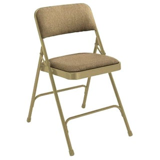 National Public Seating Fabric Upholstered Premium Folding Chairs (Pack of 4)