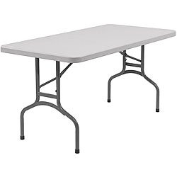 NPS Resin 30-inches x 60-inches Folding Table