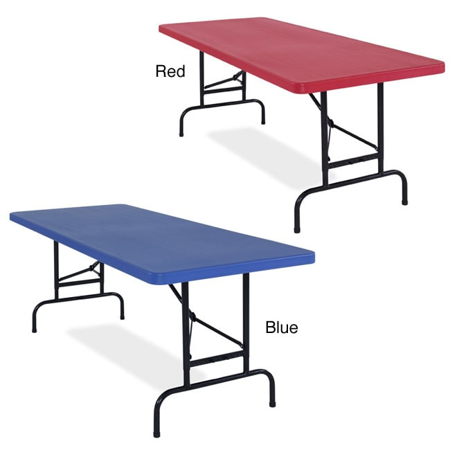 NPS Resin 72-inch  Adjustable-height Folding Table - Thumbnail 0