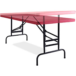 NPS Resin 72-inch  Adjustable-height Folding Table - Thumbnail 2