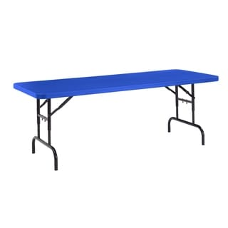 NPS Resin 72 Inch Adjustable Height Folding Table