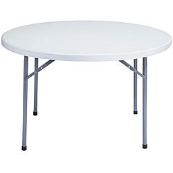 NPS Resin 48-inch Grey Round Folding Table