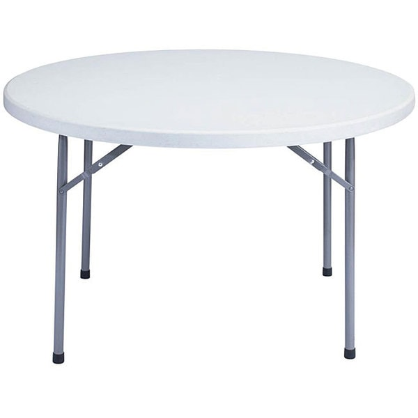 Shop Nps Resin 48 Inch Grey Round Folding Table Free Shipping